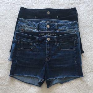 AE Dark Blue Midi Next Level Stretch Shorts